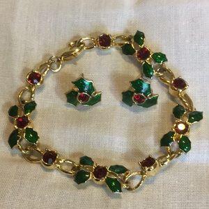 Christmas Bracelet/Earrings Set